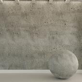 Бетонная стена. Старый бетон. 91