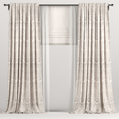 Brown curtains with Roman and tulle