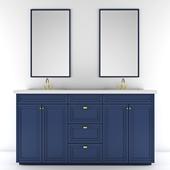double mirror bathroom cabinet