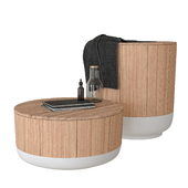 INBANI ORIGIN Bathroom stools decor set