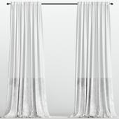 Белые бархатные шторы из тюля