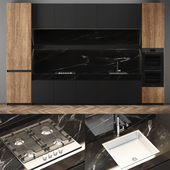 Modern black kitchen_02