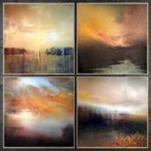 Paintings abstract | set 435