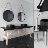 Black and wood Rustic Bathroom Furniture2