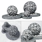 Street gabion sphere decor / Уличный декор с габионами