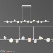 Mantra Adn LED 36w white Linear Pendant Light