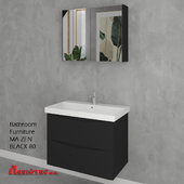 Bathroom Furniture MA ZEN BLACK 80cm
