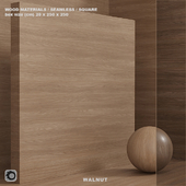 Wood / walnut material (seamless) - set 76