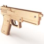 Wooden toy gun