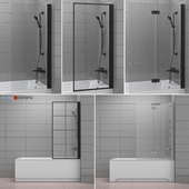 Curtains for bathtubs and bathtubs Radaway and Villeroy & Boch set 62