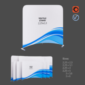 Textile Stand Vario Curved