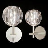 Restoration Hardware BOULE DE CRISTAL SINGLE SCONCE Nickel
