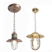 Copper and bayonne cage pendant lamps
