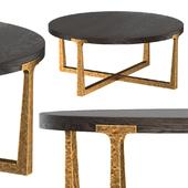 T-BRACE ROUND COFFEE TABLE