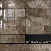 Yurtbay Seramik Kios Brown 300x900 Set 2