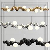 Bubbly 08-Light Linear Pendant Light