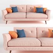 Triple Sofa Pink