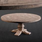 RH Salvaged Wood Round Dining Table