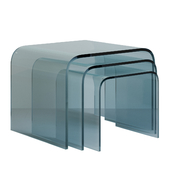 Set of glass coffee tables - GLASSO