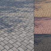 Бетонная тротуарная плитка Тип 4