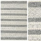 Carpet Kilim Berber Ibiza - Black and White Mix