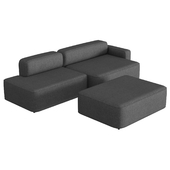 Rope Sofa Chaise Longue With Pouf