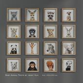 Baby Animal Prints by Jenny Kun. Size: 250x250mm.