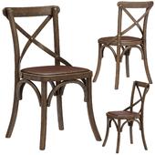 Restoration Hardware Madeleine Leather Side Chair