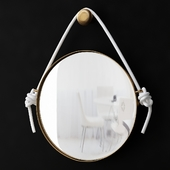 DIY Rope Mirror Restoration Hardware