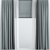 Curtains with Roman and tulle.