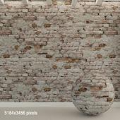 Brick wall. Old brick. 90