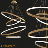 LED Swirl Four Ring Chandelier