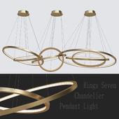 LED Oval Rings Seven Chandelier Pendant Light