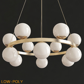 Bubbles Brass Ring Pendant Light