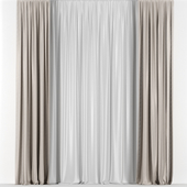 Transparent curtains.