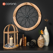 Wood decor set