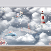 ONPRINT / wallpapers / FLYING WHALES K
