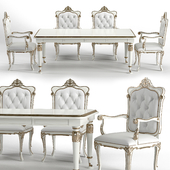 Camerin Capitonne Liberty Armchair and table