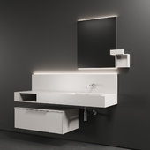 Cerasa NEROLAB SET 2 | Wood veneer vanity unit