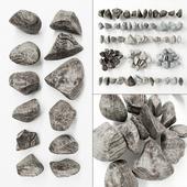 Камень скальный полосатый  / Stone rock  striped