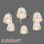 OM Ceiling chandelier with lampshades Eurosvet 60094/6 Cornetto