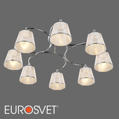 OM Ceiling chandelier with lampshades Eurosvet 60094/8 Cornetto