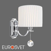 OM Wall lamp with white lampshade Eurosvet 60095/1 Napoli