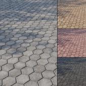 Бетонная тротуарная плитка Тип 9