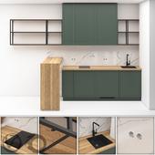 Маленькая кухня в квартиру-студию 01