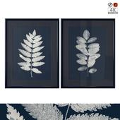 """Dark Blue Botanical Art"""