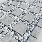 Дорога из плит с галькой / Road Title plate pebble