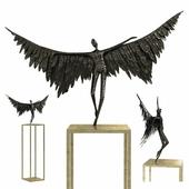 Gardeco icarus bronze sculpture