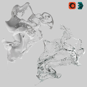 Splash cream and water, Liquid model No. 2