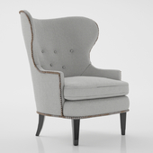 Edward Wormley for Dunbar Pair of Early Wing Chairs